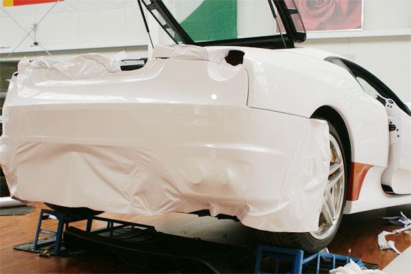 Folierung Ferrari F430 Heckschuerze